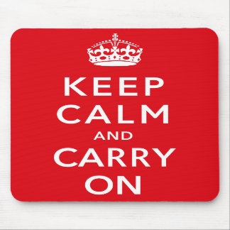 Keep Calm and Carry on Mousemat