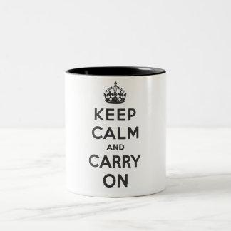 Keep Calm and Carry On - Mug - Black - Standard