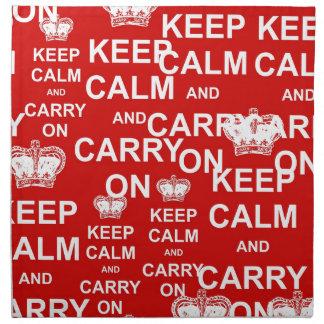 Keep Calm and Carry On Napkin