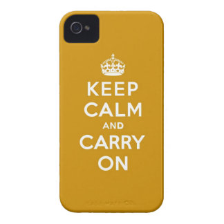 Keep Calm and Carry On Naples Yellow iPhone 4 Case-Mate Cases