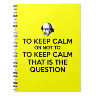 Keep calm and carry on note book