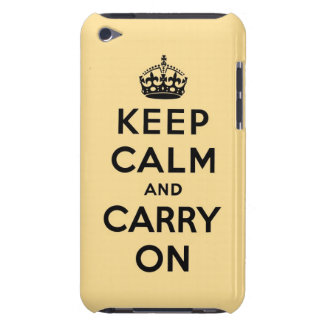 keep calm and carry on Original Barely There iPod Covers