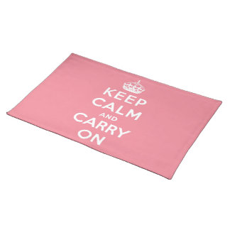 keep calm and carry on Original Place Mats