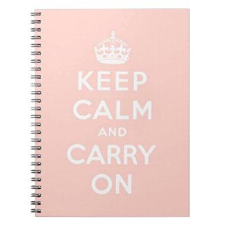 keep calm and carry on Original Spiral Notebook