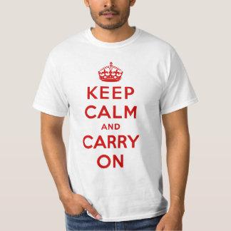 keep calm and carry on Original Tee Shirts