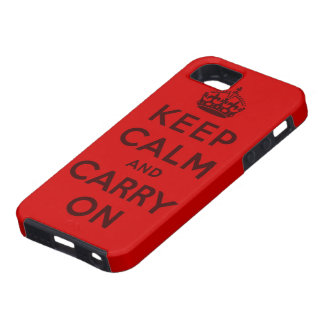 keep calm and carry on Original Tough iPhone 5 Case