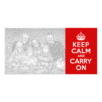 Keep Calm and Carry On Photo Card