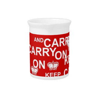 Keep Calm and Carry On Pitcher