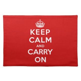 Keep Calm and Carry On Place Mats