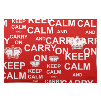 Keep Calm and Carry On Placemat