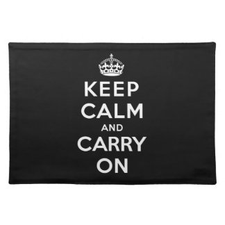 Keep Calm and Carry On Placemats