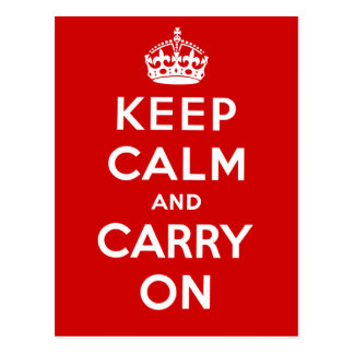 Keep Calm and Carry On Post Cards