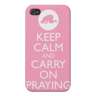 'Keep Calm and Carry on Praying' Pink! iPhone 4/4S Case