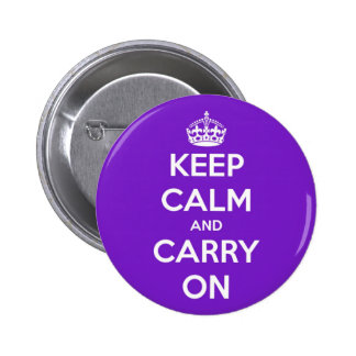 Keep Calm and Carry On Purple 6 Cm Round Badge
