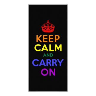 Keep Calm and Carry On Rainbow Customized Rack Card