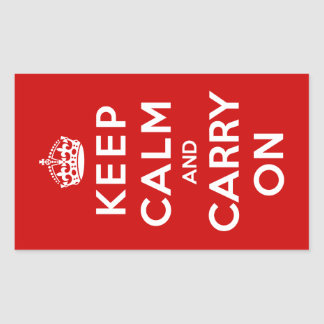 Keep Calm and Carry On Rectangular Sticker