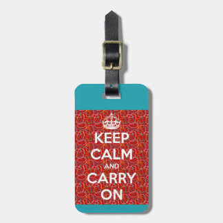Keep Calm and Carry On Retro Bag Tag