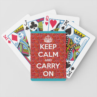 Keep Calm and Carry On Retro Red Playing Cards Bicycle Playing Cards