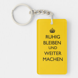 Keep Calm and Carry on - Ruhig Bleiben German Key Ring