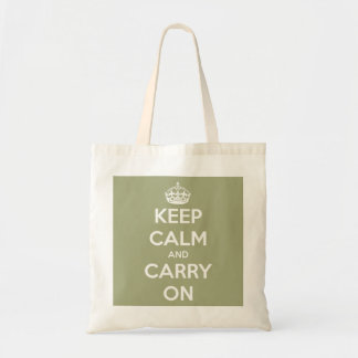 Keep Calm and Carry On Sage Green