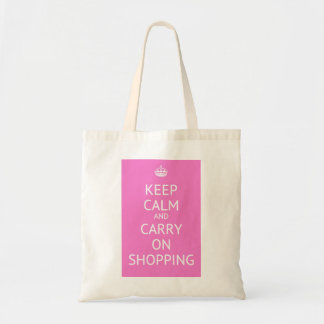 Keep calm and carry on shopping budget tote bag