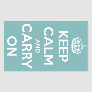Keep Calm and Carry On Sky Blue Stickers