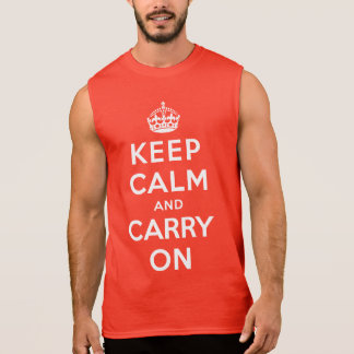 Keep Calm and Carry On Sleeveless Shirt