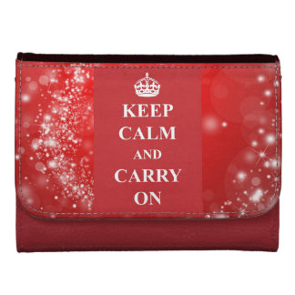 Keep Calm And Carry On Sparkle Leather Wallet