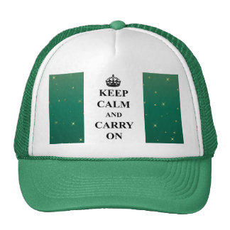 Keep Calm And Carry On Sparkle Trucker Hat