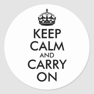 Keep Calm and Carry On Sticker