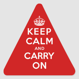 Keep Calm and Carry On Triangle Sticker