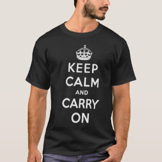 Keep Calm and Carry On T-shirt - Men's - Dark