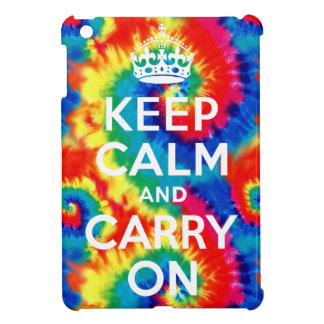 Keep Calm and Carry On Tie Dye iPad Mini Case