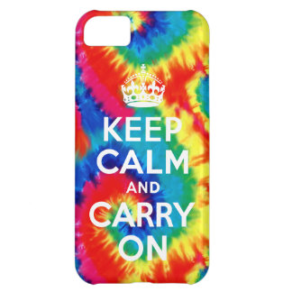 Keep Calm and Carry On Tie Dye Retro iPhone 5 Case