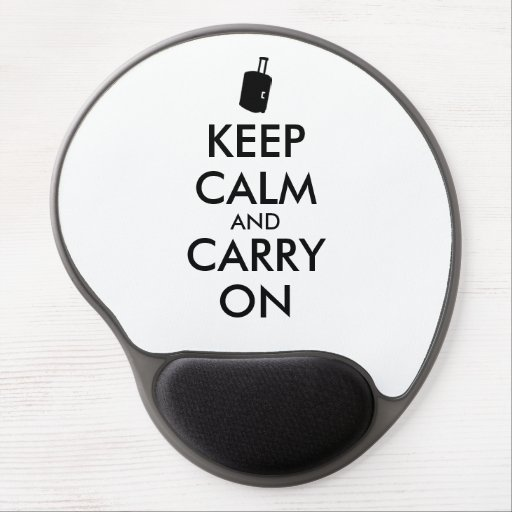 Keep Calm and Carry On Travel Custom Gel Mouse Pad