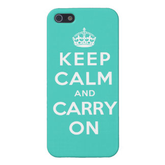 Keep Calm and Carry On - Turquoise Green iPhone 5/5S Case