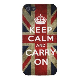 Keep Calm and Carry On Union Jack Case For iPhone 5/5S