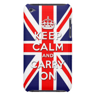 keep calm and carry on  Union Jack flag iPod Touch Case