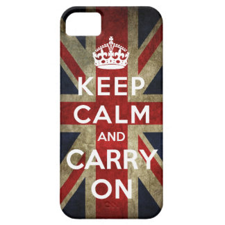 Keep Calm and Carry On Union Jack iPhone 5 Covers