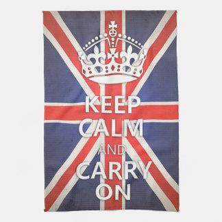 Keep Calm and Carry On United Kingdom Union Jack Towel