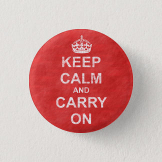 Keep Calm and Carry On Vintage 3 Cm Round Badge