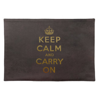 Keep Calm and Carry On | Vintage Golden Placemats