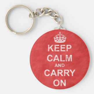 Keep Calm and Carry On Vintage Key Ring