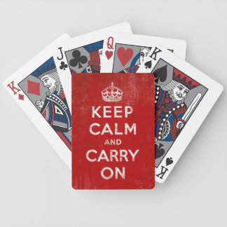 Keep Calm and Carry on Vintage Red Playing Cards