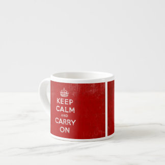Keep Calm and Carry On Vintage Sign Mug Espresso Cup