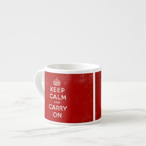 Keep Calm and Carry On, Vintage Sign Mug Espresso Cup