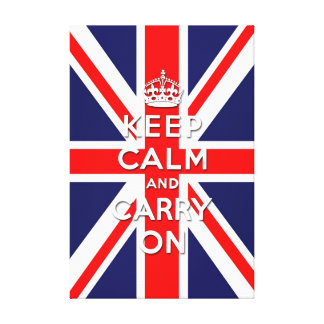 keep calm and carry on vintage Union Jack flag Canvas Print