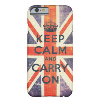 keep calm and carry on vintage Union Jack flag Barely There iPhone 6 Case