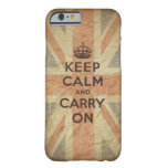 Keep Calm and Carry On with UK Flag Barely There iPhone 6 Case