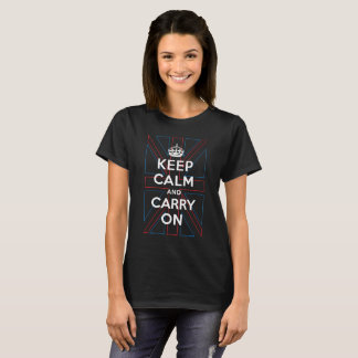 Keep Calm and Carry On with UK Flag, Technical T-Shirt